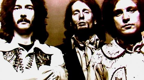 Cream, zleva Eric Clapton, Ginger Baker a Jack Bruce, 1968